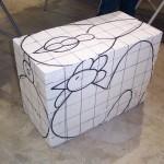 step 1- styrofoam block