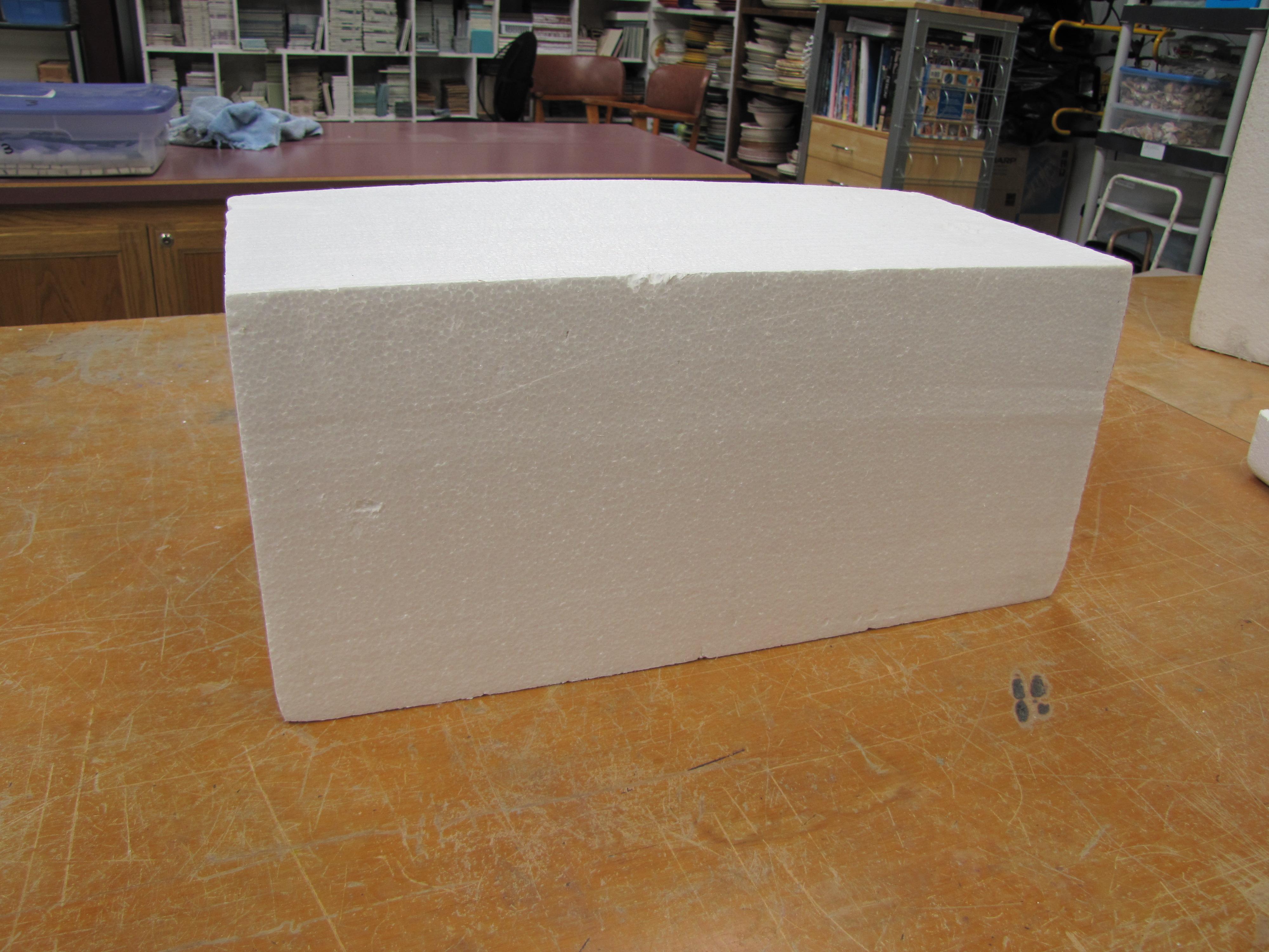 Styrofoam block passiflora mosaics fred donnell for Styrofoam cement blocks